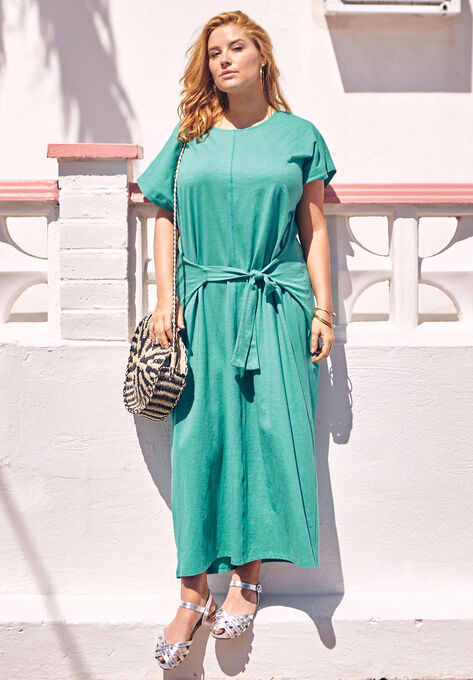803c47be5af Tie-Front Maxi Dress by Castaluna