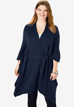 Soft Luxe Belted Cardigan, NAVY