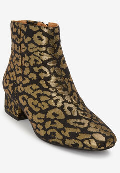 The Henley Bootie by Comfortview®, METALLIC LEOPARD