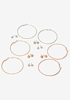 Hoops & Studs Earrings Set,