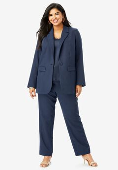 Cropped Straight-Leg Pantsuit,