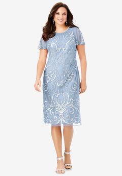 Embellished Sheath Dress,