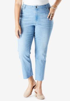 Crop Straight-Leg Jean by Denim 24/7®,