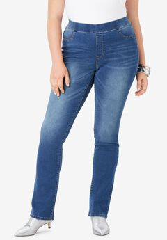 No-Gap Slim Bootcut Jean by Denim 24/7®,