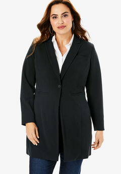 Long Two-Way Stretch Blazer,