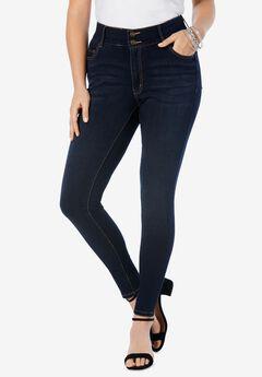 The Skinny-Leg Curvy Jean by Denim 24/7®, DARK WASH