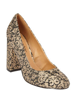 The Camile Pump by Comfortview®, GOLD METALLIC