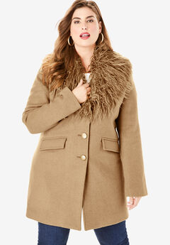 9007fa4bb16 Plus Size Wool Coats for Women