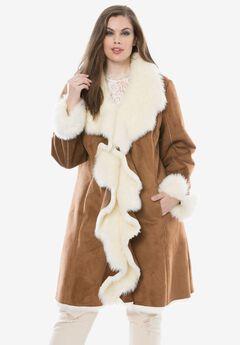 Cascade Faux-Suede Coat by Donna Salyers Fabulous Furs,