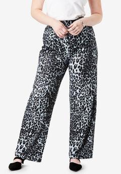 Wide-Leg Pant, GRAY CLASSIC ANIMAL