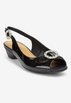 The Raven Slingback by Comfortview®, BLACK