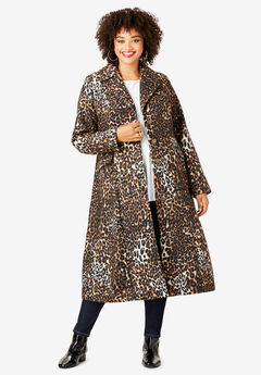 Printed Long Coat,