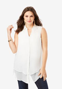 Felicity Tiered Sleeveless Blouse,