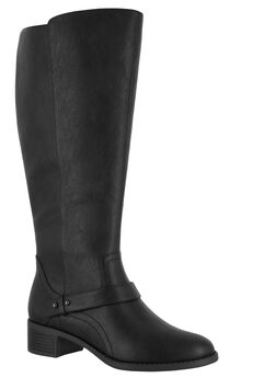 Jewel Wide Calf Boots by Easy Street®, BLACK