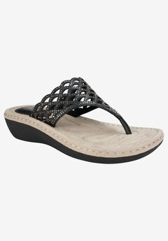 Cameo Sandal by Cliffs by White Mountain, WHITE SMOOTH