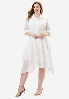 Eyelet Shirtdress,