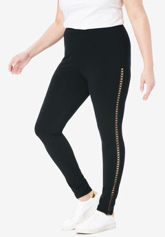Crochet Legging, BLACK