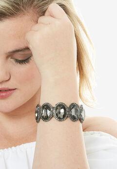 Studded Bracelet, CHARCOAL