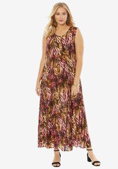 A-Line Crinkle Maxi Dress,
