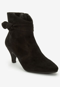 The Corrine Bootie by Comfortview®, BLACK