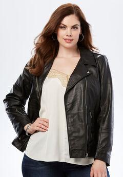 Leather Moto Jacket,