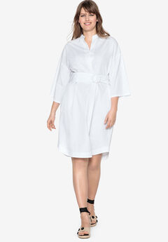 Inverted Pleat Dress by Castaluna, WHITE