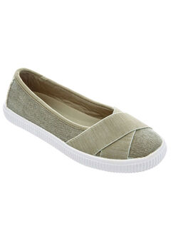 The Jazlyn Slip-On by Comfortview®, OLIVE