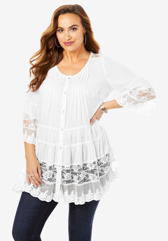 Illusion Lace Tunic,