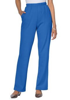 Straight-Leg Soft Knit Pant, ROYAL PERIWINKLE