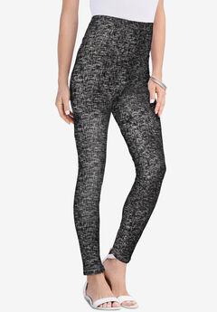 Essential Stretch Legging, BLACK GRAPHIC TEXTURE