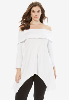 Off-The-Shoulder French Terry Tunic,