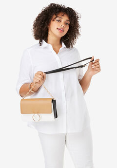 Colorblock Crossbody Bag,