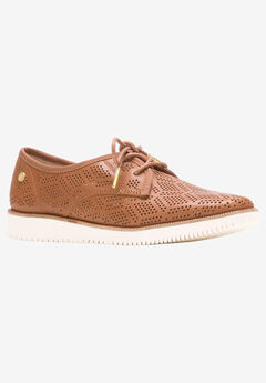 Chowchow Perf Lace Flats by Hush Puppies®, TAN LEATHER