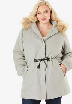 Anorak Puffer Coat, HEATHER GREY
