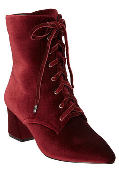 The Lela Bootie by Comfortview®, RICH BURGUNDY