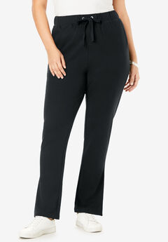 Flared French Terry Pant, BLACK