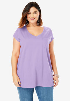 V-Neck Ultimate Tee, BRIGHT LILAC