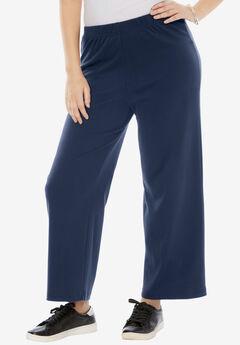 Wide-Leg Soft Knit Pant,