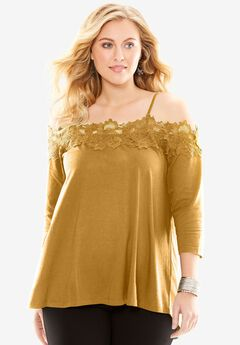 Off-The-Shoulder Lace Tunic,