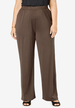 Ultra Smooth Wide-Leg Pant, CHOCOLATE