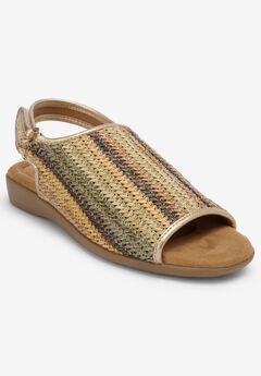 The Easton Sling Sandal by Comfortview®, NATURAL STRIPE