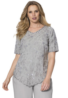 Sequin Beaded Top,