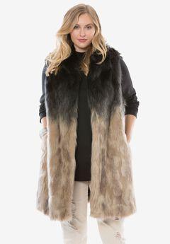 Faux Fur Ombre Vest by Donna Salyers Fabulous-Furs,