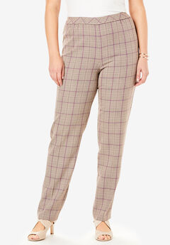 Classic Bend Over® Pant, BEIGE PLAID