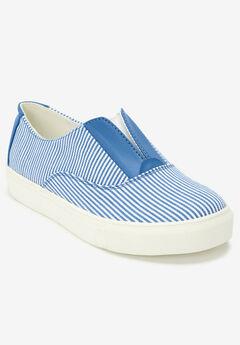 Maisy Sneaker by Comfortview®, BLUE STRIPE