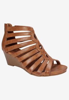 Victoria Sandal by Cliffs by White Mountain, COGNAC BURNISHED SMOOTH