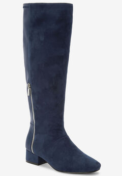 The Ivana Wide Calf Boot by Comfortview®, NAVY