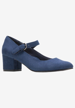 Dustie Pump by Soft Style, NAVY FAUX SUEDE