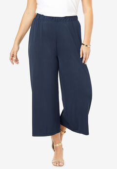 Ultra Smooth Wide-Leg Crop Pant,