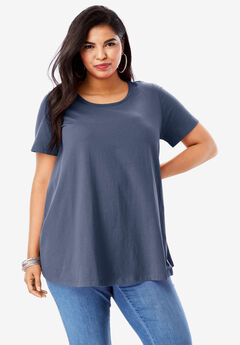 Swing Ultimate Tee with Keyhole Back, NAVY